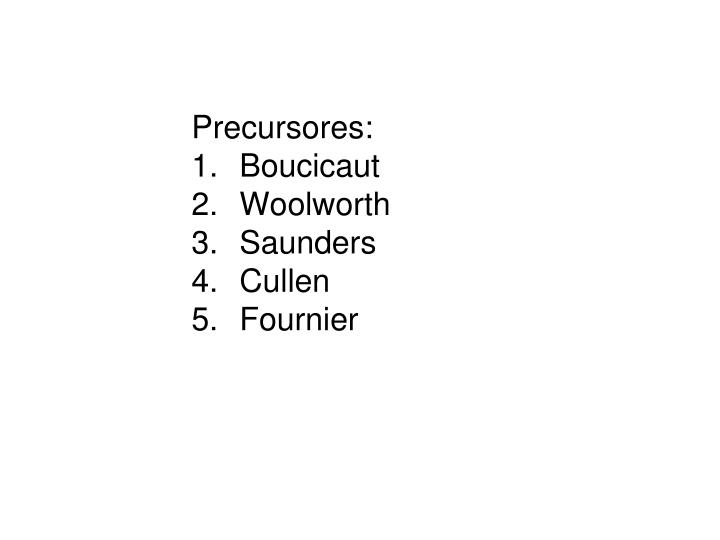 Precursores: