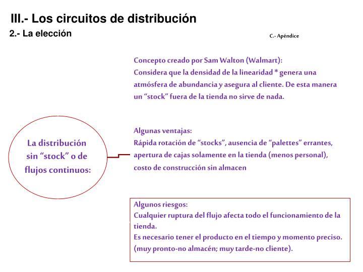 III.- Los circuitos de distribución