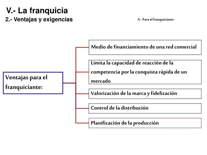 V.- La franquicia