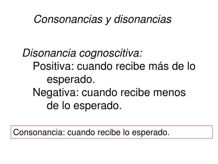 Consonancias y disonancias