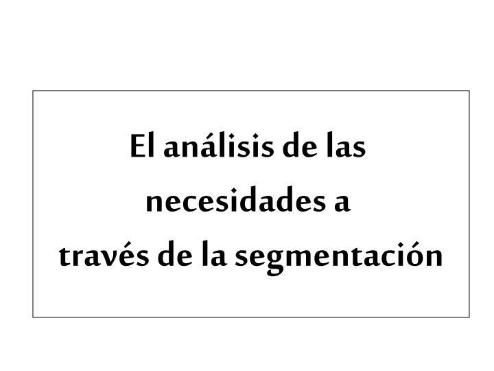 El análisis de las