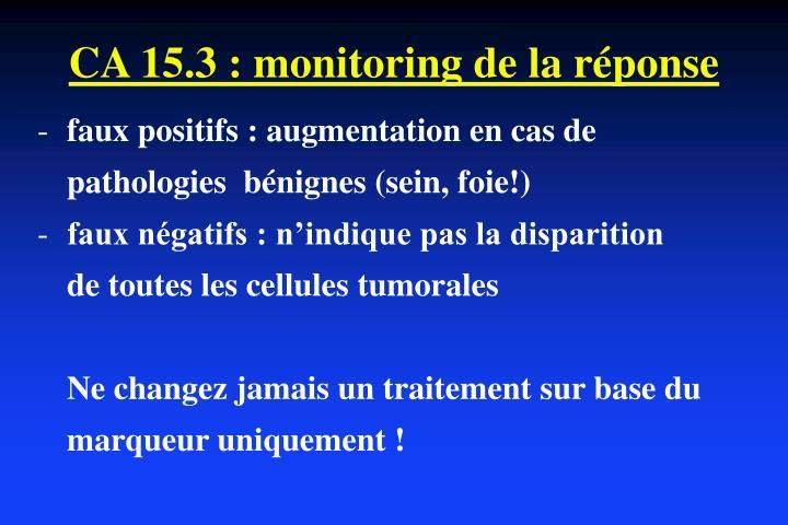CA 15.3 : monitoring de la réponse