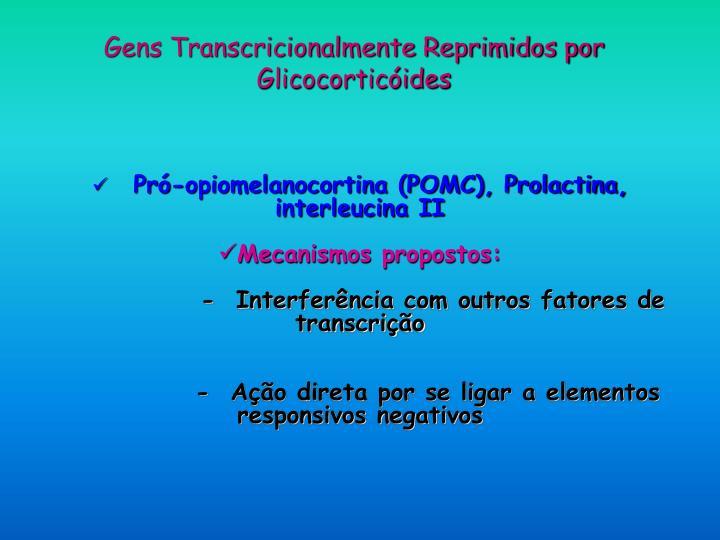 Gens Transcricionalmente Reprimidos por Glicocorticóides