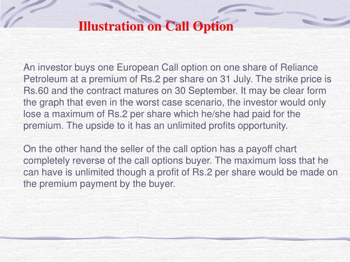 Illustration on Call Option