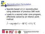 reconstruction formulation