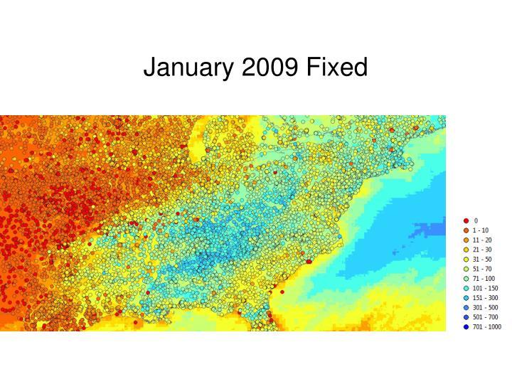 January 2009 Fixed