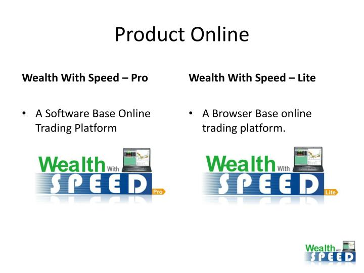 Product online