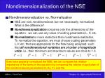 nondimensionalization of the nse5