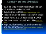 leprosy in the americas