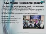 a1 3 master programmes sharing
