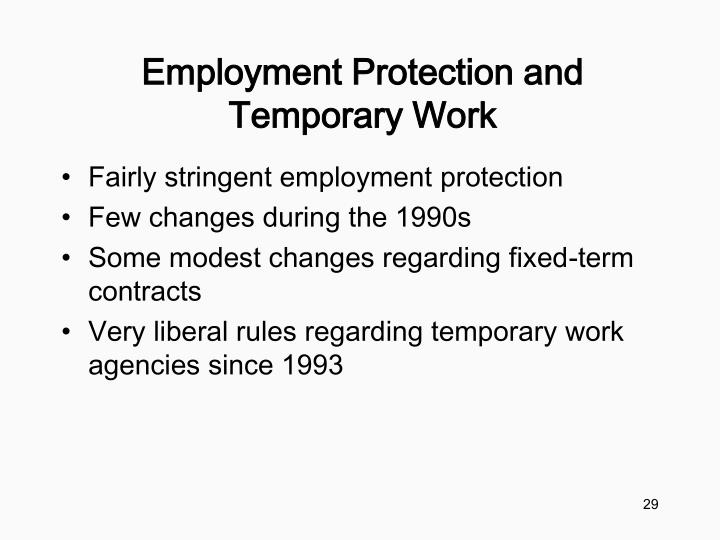 Employment Protection and