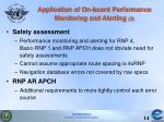 application of on board performance monitoring and alerting 3