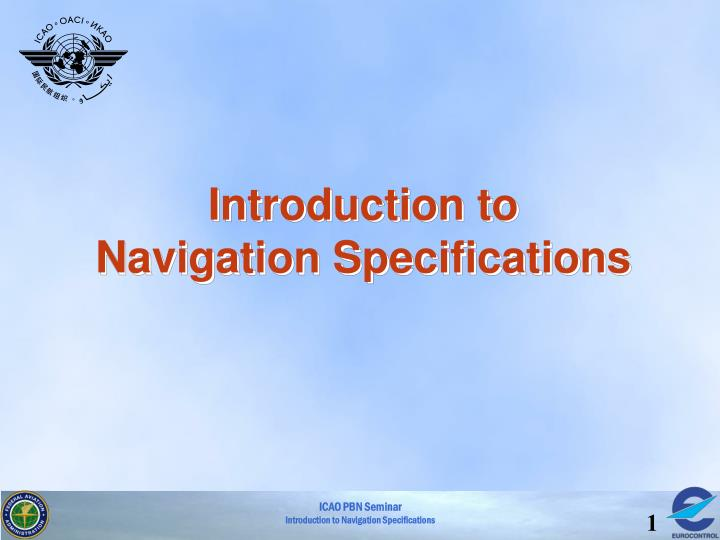 introduction to navigation specifications n.