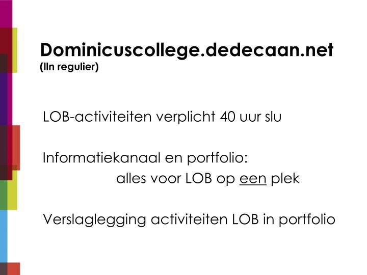 Dominicuscollege.dedecaan.net