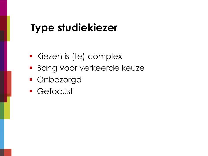 Type studiekiezer