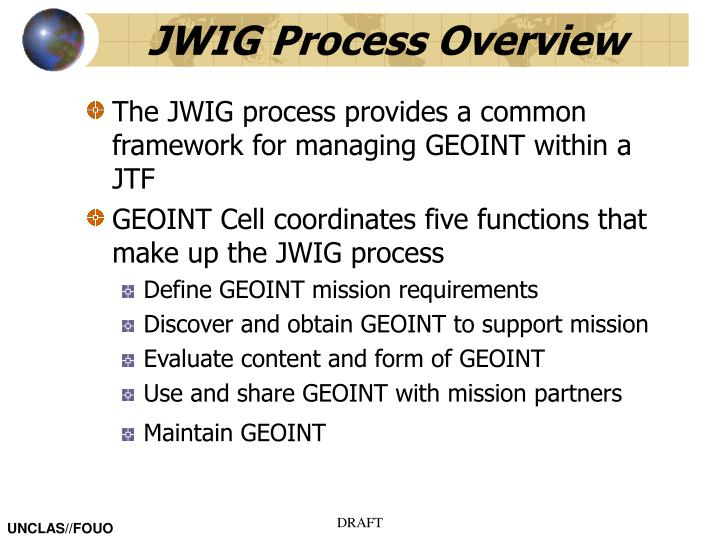 JWIG Process Overview