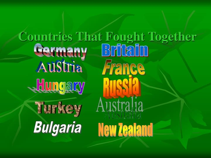 Countries That Fought Together