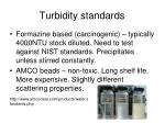 turbidity standards
