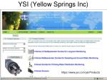 ysi yellow springs inc