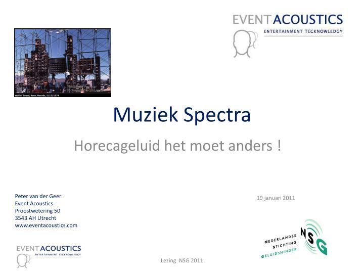 muziek spectra n.
