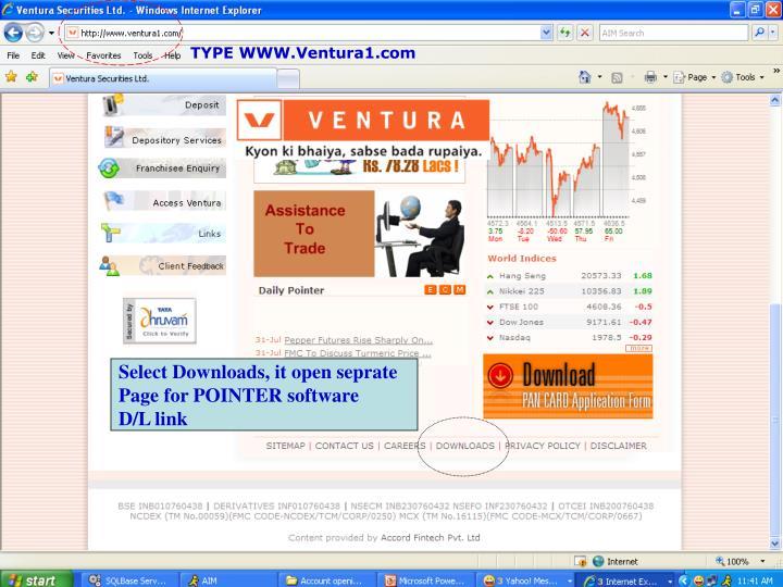 TYPE WWW.Ventura1.com