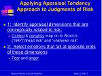 applying appraisal tendency approach to judgments of risk