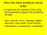 how the state produces social order