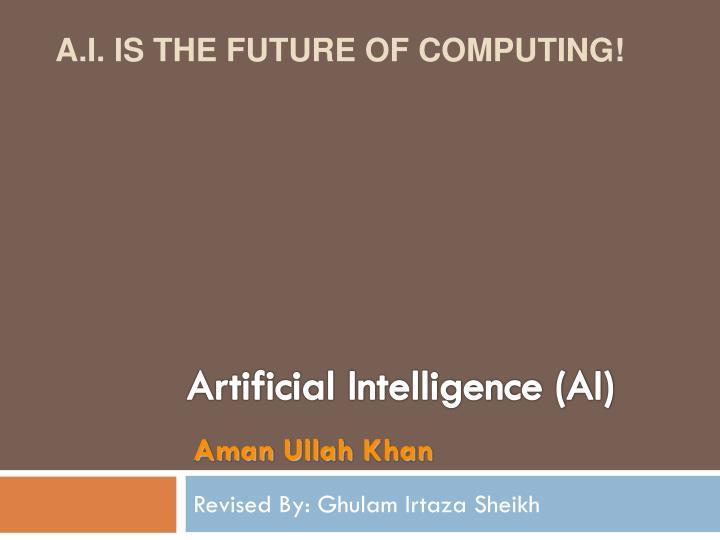 artificial intelligence ai n.