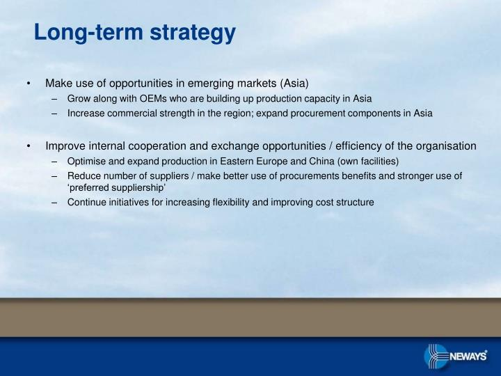 Make use of opportunities in emerging markets (Asia)