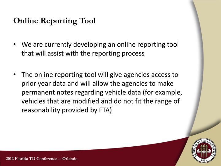 Online Reporting Tool