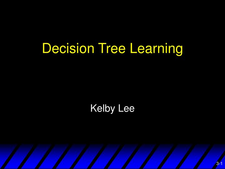 decision tree learning n.