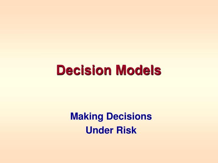 decision models n.