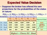 expected value decision