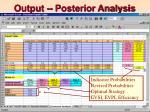 output posterior analysis