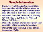 sample information