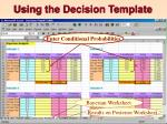 using the decision template1