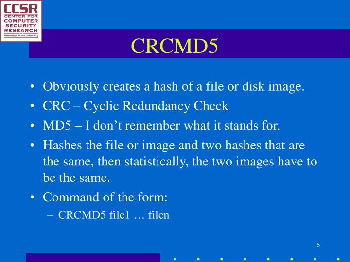 CRCMD5