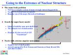 going to the extremes of nuclear structure