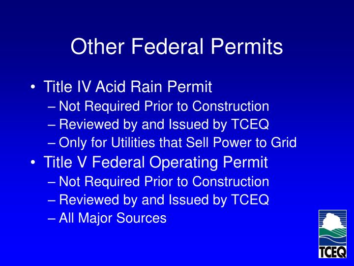 Other Federal Permits