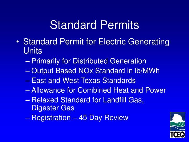 Standard Permits