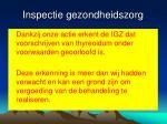 inspectie gezondheidszorg