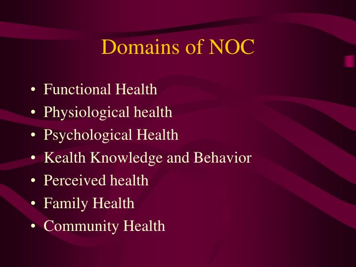 Domains of NOC