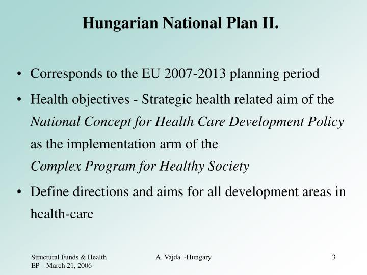Hungarian national plan ii