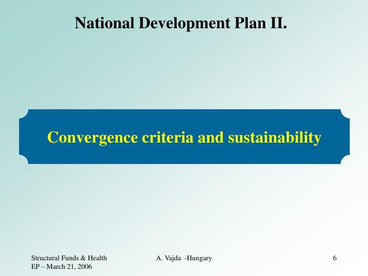National Development Plan II.