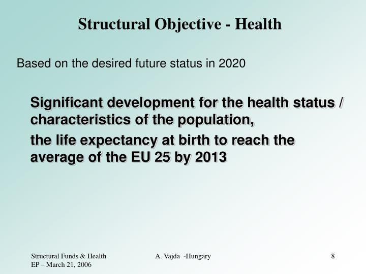 Structural Objective - Health