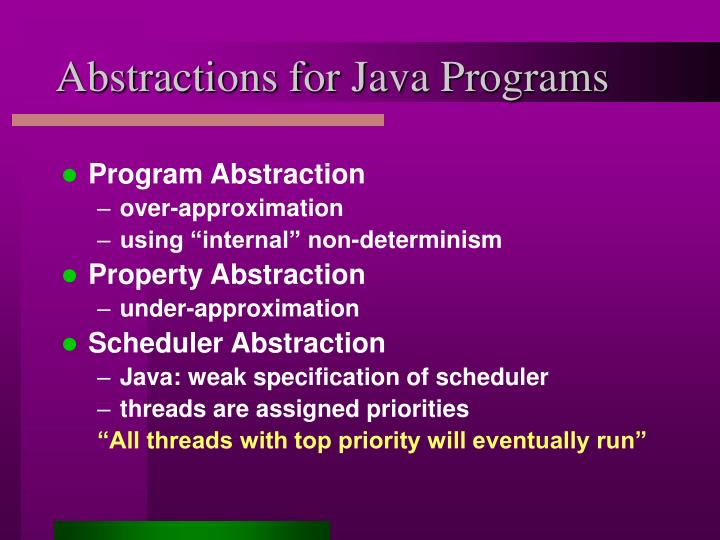 Abstractions for Java Programs