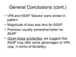 general conclusions cont