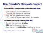 ben franklin s statewide impact