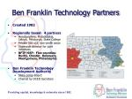 ben franklin technology partners