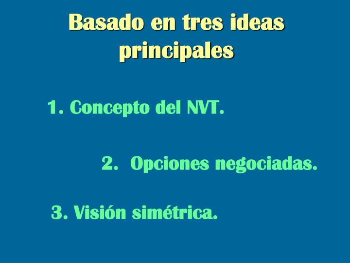 Basado en tres ideas principales